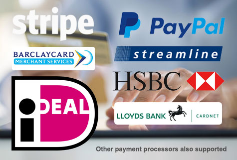 Many Payment Processors Supported