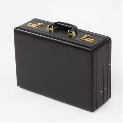 Double Expanding Leather Briefcase