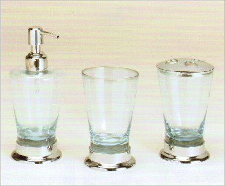 SFS01 Accessory Set blue glass/chrome
