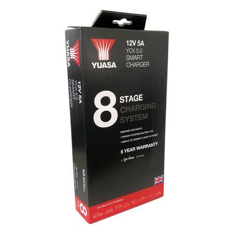 Yuasa YCX 5.0 12v 5A 8 Stage Smart Charger