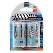 Ansmann D 10000mAh rechargeable NiMh Batteries - Pack Of 2