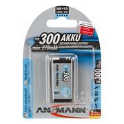 Ansmann 9v 300mAh Max e rechargeable NiMh Battery - Pack Of 1