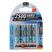 Ansmann AA 2500mAh Max e rechargeable NiMh Batteries - Pack Of 4