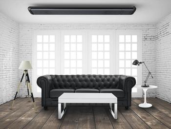 Shadow 4.5kW Three-phase NOIR ll Zero Light Patio Heater, Black