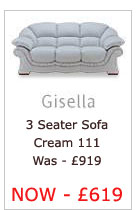 Gisella Three Seater Sofa (Cream 111)