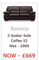 Romola Three Seater Sofa (Coffee 52)