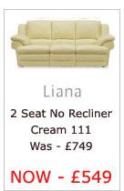 Liana Two Seater No Recliner (Cream 111)