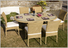 Barcelona Rattan Dining Table Plus Six Chairs