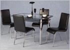 Harlequin Glass Top Dining Set
