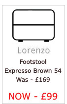 Lorenzo Leather Footstool (Expresso 54)