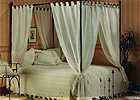 Voile Cotton 4 Poster Bed Curtains