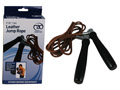 Fitness-Mad Pro Leather Jump Rope with Swivel