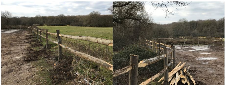 Rustic Post and Rail Fencing Essex