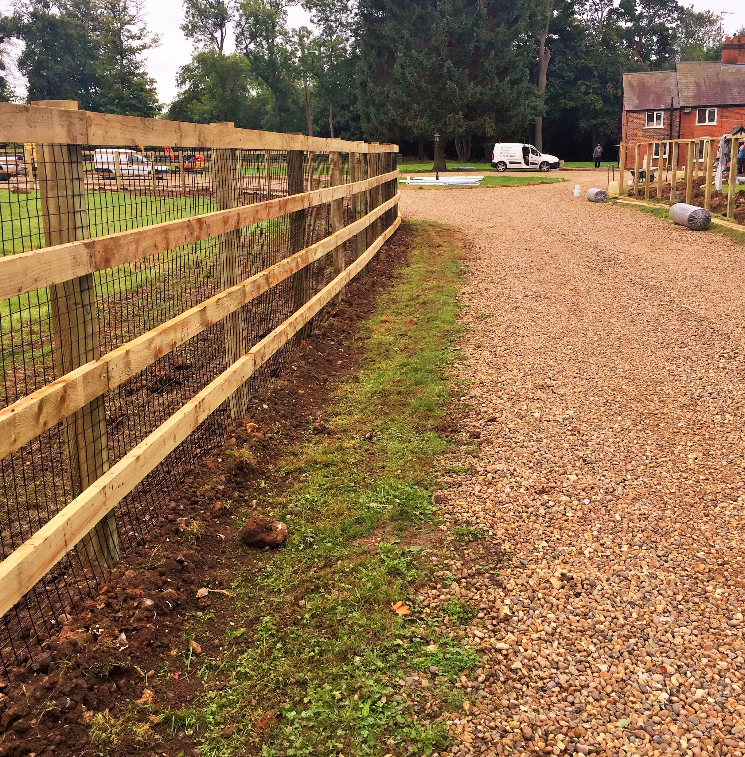 internal post and rail fencing Hertfordshire