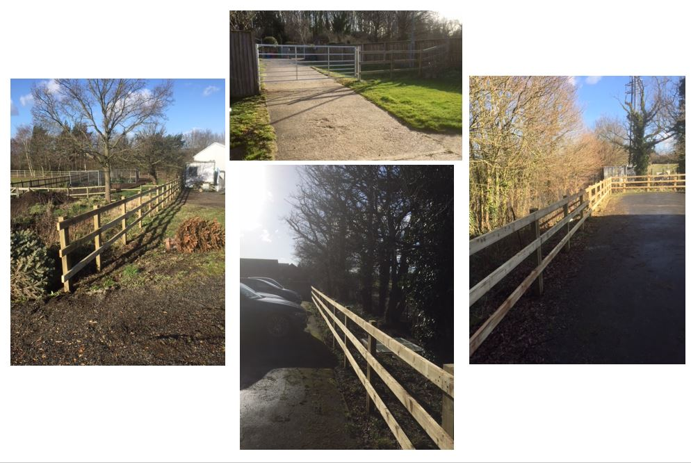 Post and Rail Fencing Essex
