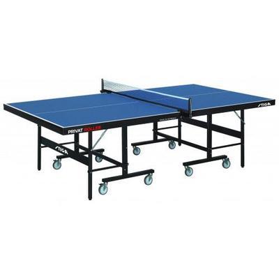 Stiga Privat Roller CCS 19mm Indoor Table Tennis Table - Blue