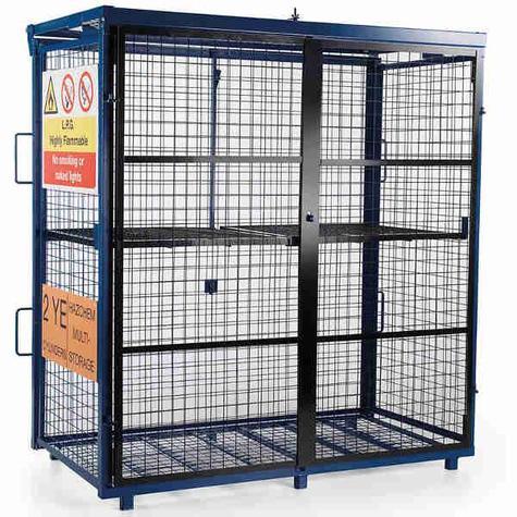 Van Vault S10360 Fold-away Gas Cage