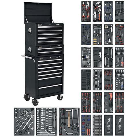 Tool Chest Combination SPTCOMBO2 c/w 1179pc Tool Kit - Black