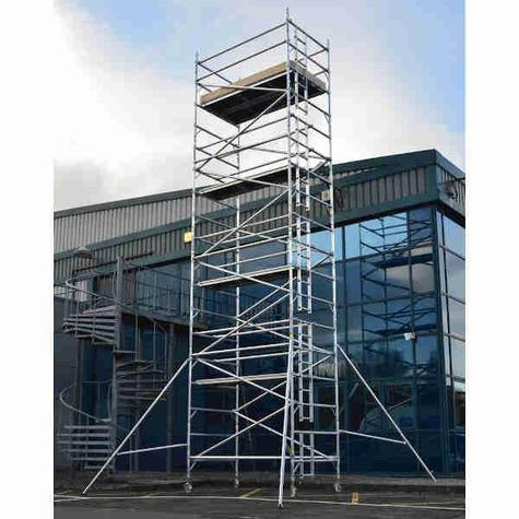 Scaffold Tower Lyte HILYTE500 Aluminium  0.85m x 1.8m x 9.7m