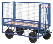 Mesh Box Truck Half-hinged 1220 x 610 x 500kg Pneumatic Tyre TSK130NP