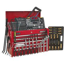 Tool Chest Sealey AP225COMBO 5 Drawer - Red & 230pc Tool Kit
