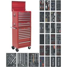 Tool Chest Combination  SPTCOMBO1 c/w 1179pc Tool Kit - Red