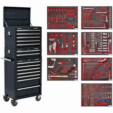 Tool Chest Combination Sealey TBTPCOMBO2 c/w 446pc Tool Kit - Black