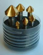 Titex 90 deg TiN Coated Countersink Set