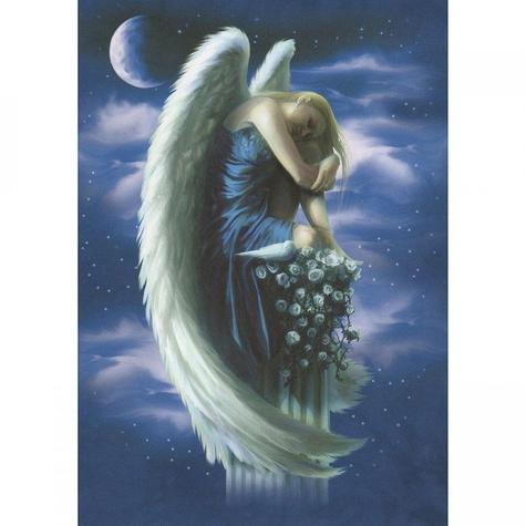 Angel On A Pedestal Blank Greetings Card