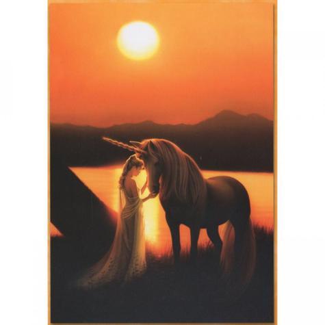 Enchanted Evening Unicorn Blank Greetings Card