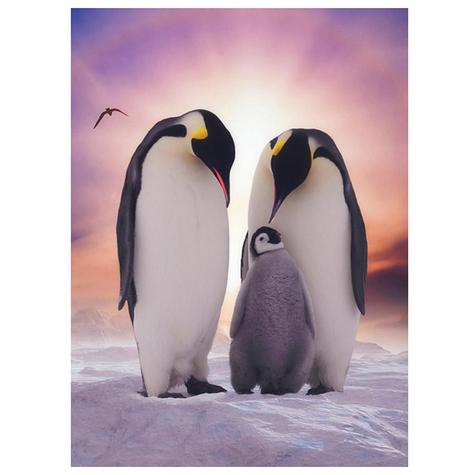 Emperor Penguin Family Blank Greetings Card