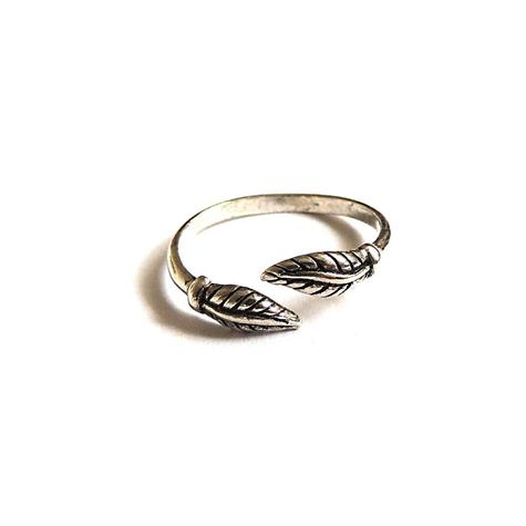 Sterling Silver Angel's Feather Toe/Midi Ring