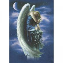 Angel On A Pedestal Blank Greetings Card