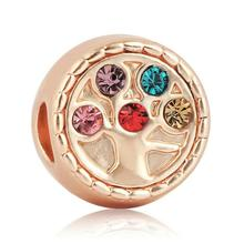 Rose Gold Plated Tree of Life Charm Bead
