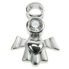 Sterling Silver Angel of Love Pendant with CZ