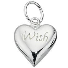 Sterling Silver Wish Heart Pendant/Charm
