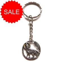 Moon Howling Wolf Keyring [SALE]