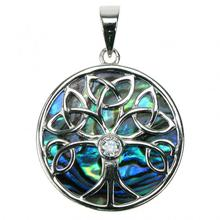 Sterling Silver Paua Shell Celtic Tree of Life Pendant