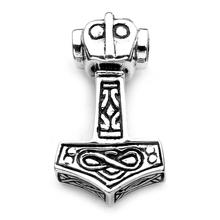 Sterling Silver Thor's Hammer Pendant by Peter Stone