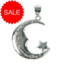 Sterling Silver I Love You To The Moon And Back Pendant [SALE]