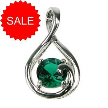 Sterling Silver Emerald Infinity Pendant [SALE]
