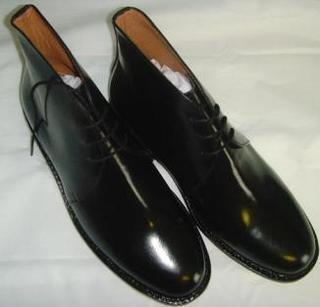 Black Leather George Boots