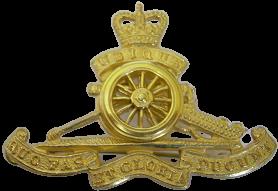 R Artillery Officers Cap Badge