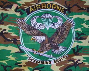 Screaming Eagle USA Camo Airborne Flag 5ft x 3ft New