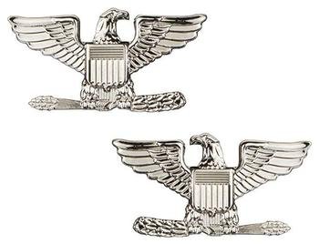 US collar Badge - Colonel Rank Pair Left and right facing