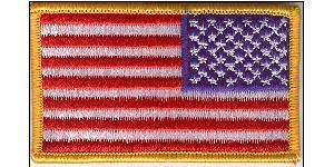 Embroidered US Combat Flag - Reverse