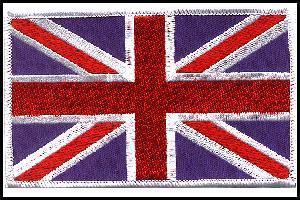 Excelent Quality Sew On Flag 12cmx8cm