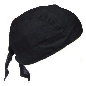 New Plain black Mil-tec head wrap