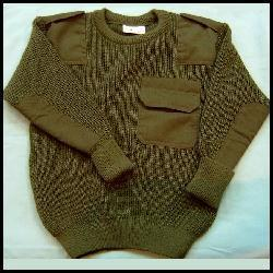New Wool Mix Quality Made Kids Army Jumpers