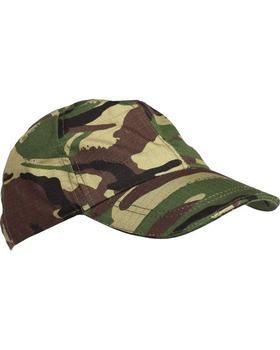 Childrens / Kids Woodland DPM Ripstop Baseball cap / Hat